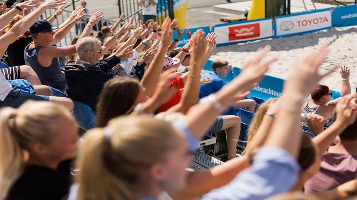 Läktaren på Swedish Beach Tour i Göteborg